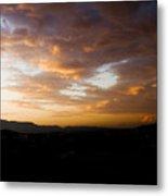 Athens Sunset Metal Print by Julia Bridget Hayes