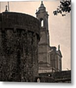Athlone Castle And Church Metal Print