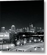 Atlanta Black And White Panorama Metal Print