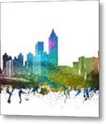 Atlanta Cityscape 01 Metal Print