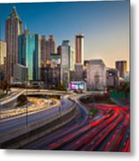 Atlanta Downtown Lights Metal Print
