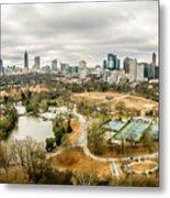 Atlanta Georgia City Skyline Metal Print
