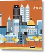 Atlanta Georgia Horizontal Skyline Metal Print