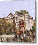Atlanta Georgia Usa - Color Pencil Metal Print
