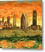 Atlanta Georgia Skyline 10 Metal Print