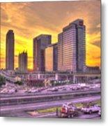 Atlanta Midtown Atlantic Station Sunset Metal Print