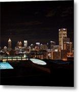 Atlanta Night Skyline Metal Print