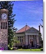 Atlanta Public Library And Clock Tower Metal Print