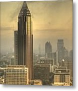 Atlanta Skyline At Dusk Metal Print