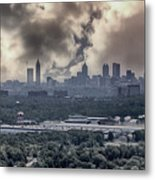 Atlanta Skyline Panoramic Metal Print