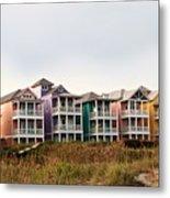 Atlantic Beach Nc   Beach Houses Metal Print