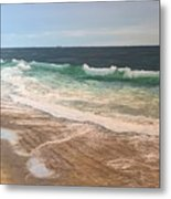 Atlantic Beach Waves Metal Print
