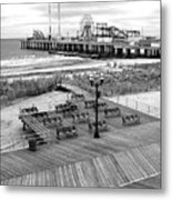 Atlantic City Boardwalk Metal Print