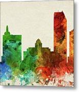 Atlantic City Skyline Panorama Usnjac-pa03 Metal Print