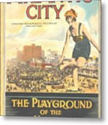 Atlantic City The Playground Of The Nation Metal Print
