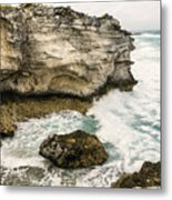 Atlantic Coastline In Bahamas Metal Print