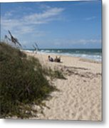 Atlantic Ocean On The East Central Coast Of Florida Metal Print