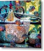 Atlantis Aquarium In Watercolor Metal Print