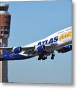 Atlas Air Boeing 747-446 N465mc Phoenix Sky Harbor January 12 2015 Metal Print