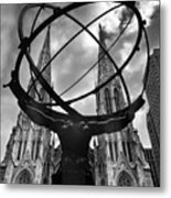 Atlas Holding The Heavens Metal Print