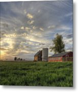 Atmosphere And Alfalfa - Larimer County, Colorado Metal Print