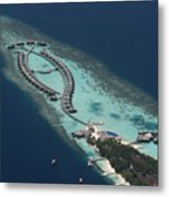 Atolls From The Air Metal Print