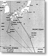 Atomic Bombing Of Japan, 1945 Metal Print