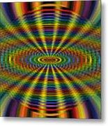 Atomic Rainbow Metal Print