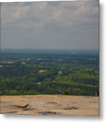 Atop Of Stone Mountain Metal Print