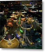 Atop The Ferris Wheel Metal Print