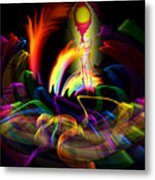 Atrium Outburst Angel Metal Print