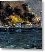 Attack On Fort Sumter Metal Print