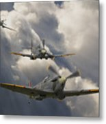 Attack Out Of The Sun Metal Print