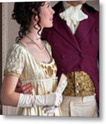 Attractive Regency Couple Metal Print