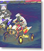 Atv Racing Metal Print