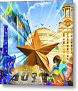 Atx Montage Metal Print by Andrew Nourse
