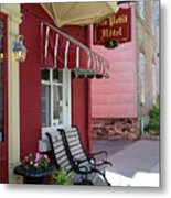 Au Petit Hotel Quebec City  6525 Metal Print