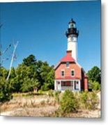 Au Sable Point Lighthouse Metal Print