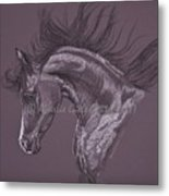 Aubergine Arabian Iv Metal Print