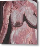 Aubergine Mother And Child Metal Print