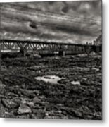 Auburn Lewiston Railway Bridge Metal Print
