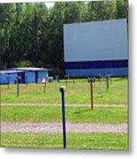 Auburn Ny - Drive-in Theater 3 Metal Print