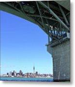 Auckland Harbour And Bridge Metal Print