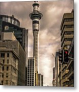 Auckland Sky Tower Metal Print