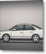 Audi A4 Quattro B5 Type 8d Sedan White Metal Print