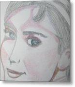 Audrey Hepburn Series 5c Metal Print