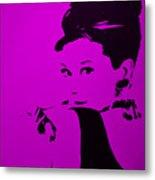 Audrey Purple Metal Print