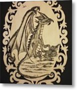 Audrey's Dragon Metal Print by Ginny Youngblood