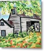 August Barn Metal Print by Linda Marcille