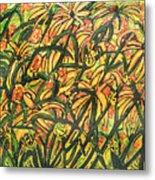 August Floral Metal Print